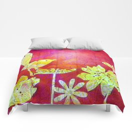 Little Yellow Bird Comforters