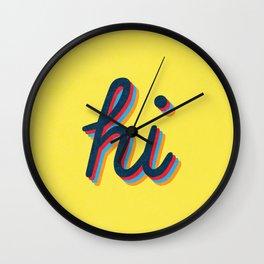 Hi - yellow version Wall Clock