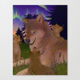 Storyteller Wolf Canvas Print