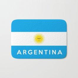 argentina country flag name text Bath Mat