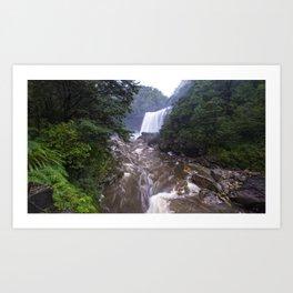Mangatini Falls, Upper Ngakawau River, Charming Creek Walkway, Buller, New Zealand Art Print