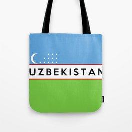 flag of Uzbekistan Tote Bag