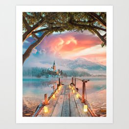 Lake Bled Art Print