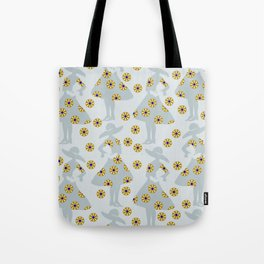 Audrey on the flower meadow Tote Bag