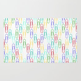 Paper Clips Pattern Rug