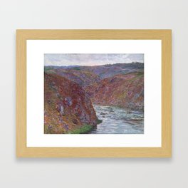 Valley of the Creuse (Gray Day) Framed Art Print