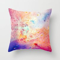 cosmos Throw Pillows featuring Cosmos by Kimsey Price