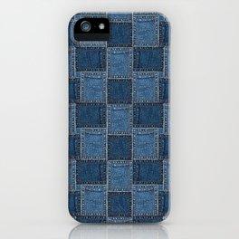 Denim Patch iPhone Case
