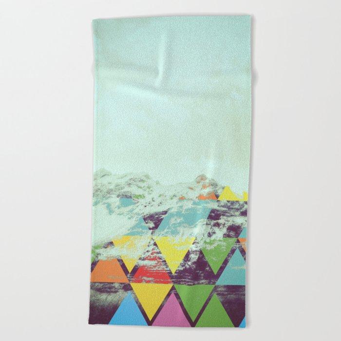Triangle Mountain Beach Towel