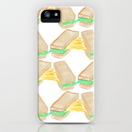 Melted cheese sandwich iPhone Case