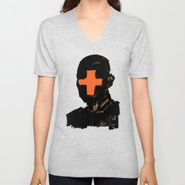 The Face Of The Leader Unisex V-Neck