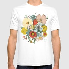 Flower Wad MEDIUM White Mens Fitted Tee