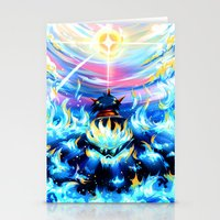 gurren lagann Stationery Cards featuring Gurren Lagann - Burning Soul by Cielo+
