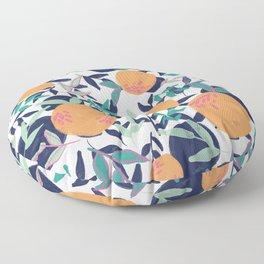 Summer Citrus (White) Floor Pillow