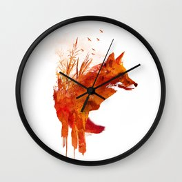 Plattensee Fox Wall Clock