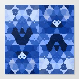 Ethnic classic blue pattern Canvas Print