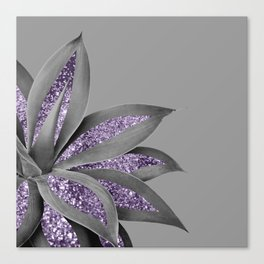 Agave Finesse Glitter Glam #4 #tropical #decor #art #society6 Canvas Print