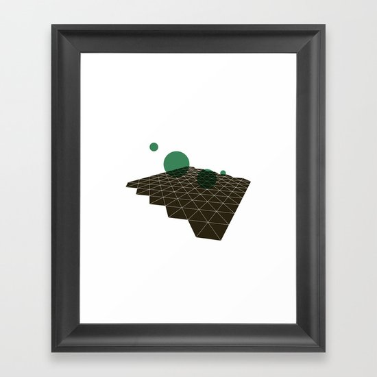 #333 Deep space cartography part II – Geometry Daily Framed Art Print