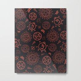 Supernatural Sigils  Metal Print