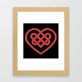 Celtic Heart (Dark) Framed Art Print