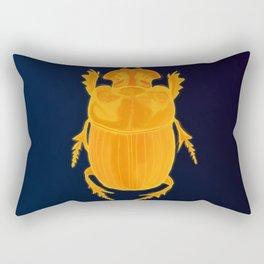 Golden Beetle Rectangular Pillow