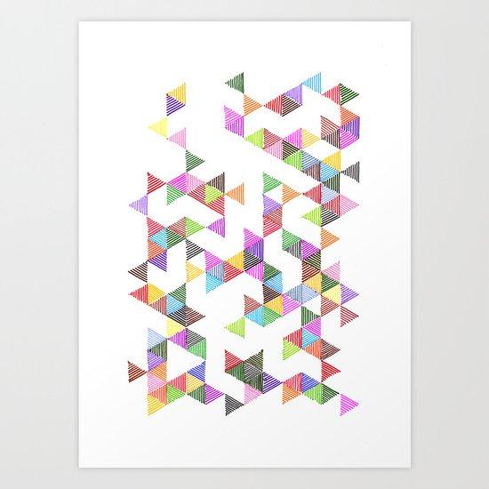 Technicolour Raindrops Art Print