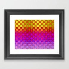 Bright Woven Colors Framed Art Print