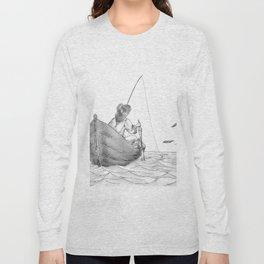 man fishing Long Sleeve T-shirt