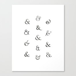 Ampersands Canvas Print