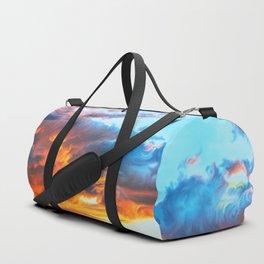Sky on fire Duffle Bag