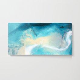 """Swakopmund"" Resin Seascape coastal art, Africa coast in Namibia Metal Print"
