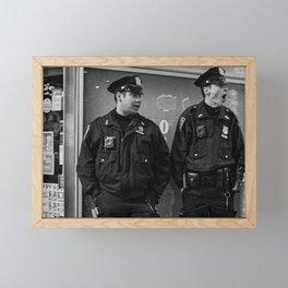 Two Policemen Framed Mini Art Print