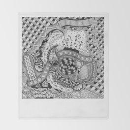 Zentangle®-Inspired Art - ZIA 22 Throw Blanket