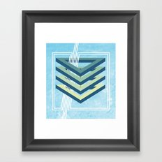 Four Triangles  Framed Art Print