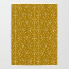 Art Deco Vector in Gold Poster