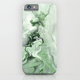 Minimalist abstract green marble 1 iPhone Case