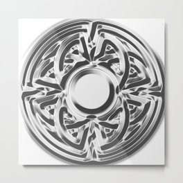 Silver Viking Symbol Metal Print