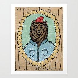 bear zissou Art Print