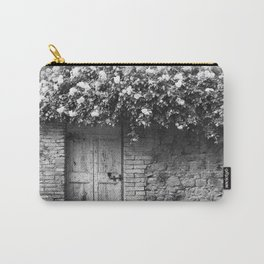 Old Italian wall overgrown with roses Carry-All Pouch