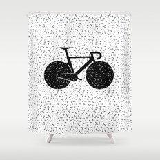Track Bike Shower Curtain