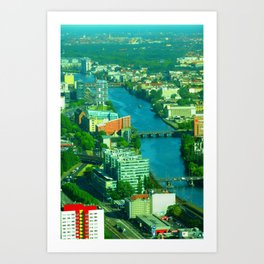 Looking down from the Fernsehturm Art Print