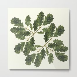 Oak ensemble (Cream  ground) Metal Print