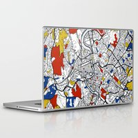 rome Laptop & iPad Skins featuring Rome by Mondrian Maps