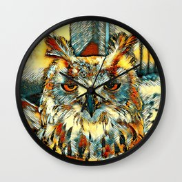 AnimalArt_Owl_20170905_by_JAMColorsSpecial Wall Clock