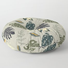 Gold in the Tropical Jungle  Floor Pillow