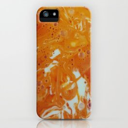 Orange Ink iPhone Case