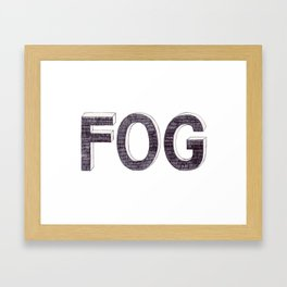 FOG BIRO DRAWING Framed Art Print