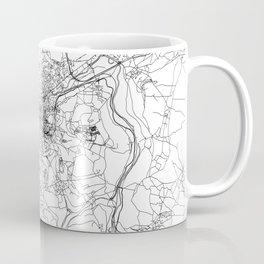 Bath White Map Coffee Mug