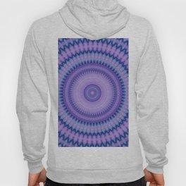 Pantone Purple Aqua Mandala Hoody