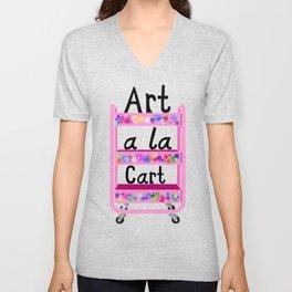 Art A La Cart Teacher  Unisex V-Neck